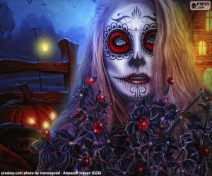 Rompicapo di Maschera gotica di Halloween