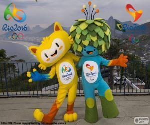 Rompicapo di Mascotte olimpici di Rio 2016