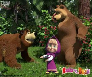 Rompicapo di Masha con i due orsi