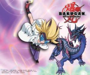 Rompicapo di Masquerade sua Bakugan Hydranoid Darkus