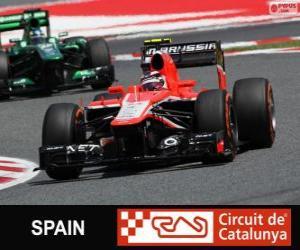 Rompicapo di Max Chilton - Marussia - Circuit de Catalunya, Barcellona, 2013