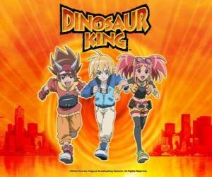 Rompicapo di Max, Rex e Zoe, gli esperti sui dinosauri ei protagonisti della serie Dinosaur King