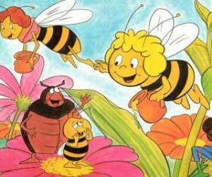 Rompicapo di Maya volato insieme con l'insegnante Cassandra portare un barattolo di miele ciascuno, mentre Wili salutare i loro amici e Kurt