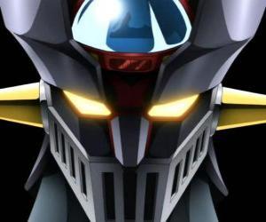 Rompicapo di Mazinga Z, testa dil gigantesco Super Robot, principale protagonista delle avventure della serie manga Z Mazinger
