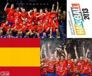 Rompicapo di Medaglia d'oro di Spagna alla mondiale di pallamano 2013