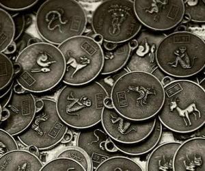 Rompicapo di Medaglie con i segni dello zodiaco cinese