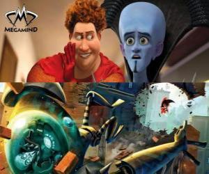Rompicapo di Megamind e Titan in una rissa