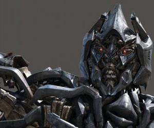Rompicapo di Megatron il comandante supremo della fazione dei Decepticon