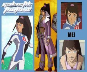Rompicapo di Mei è la giocatrice numero 7 della squadra Snow Kids
