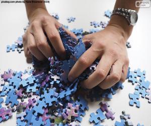 Rompicapo di Mescolare insieme i pezzi del puzzle