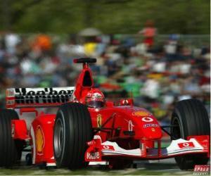 Rompicapo di Michel Schumacher (il Kaiser) pilota il F1