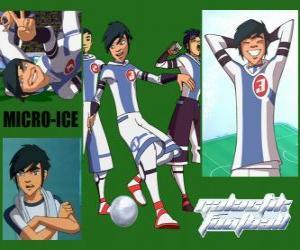 Rompicapo di Micro-Ice è il jolly della squadra Snow Kids, è il numero 3