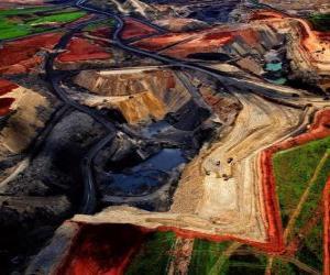 Rompicapo di Miniera di carbone in Sud Africa