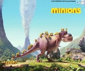 Rompicapo di Minions con il dinosauro