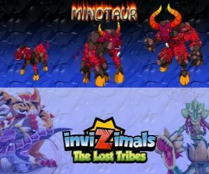 Rompicapo di Minotaur, ultima evoluzione. Invizimals Le Tribù Scomparse. Invizimal pericolose e feroce che è fuggito dal labirinto