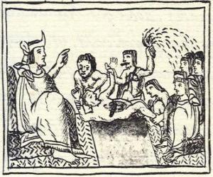 Rompicapo di Moctezuma sul trono. Huey Tlatoani, il sovrano del antico popolo azteco