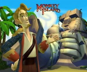 Rompicapo di Monkey Island, un video gioco di avventure. Guybrush Threepwood, un giocatore importante