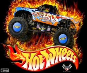 Rompicapo di Monster Truck di Hot Wheels in azione