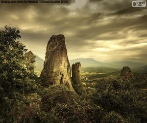 Rompicapo di Montagne di Meteora, Grecia