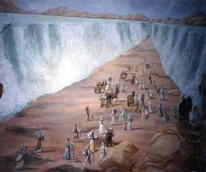 Rompicapo di Mosè divide le acque dil Mar Rosso nel esodo del popolo ebraico