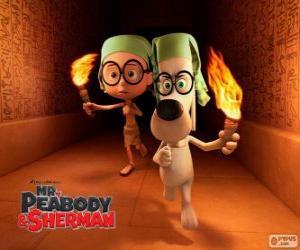 Rompicapo di Mr Peabody e Sherman in una delle loro avventure in Egitto