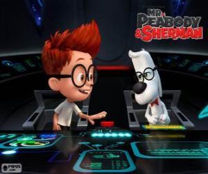 Rompicapo di Mr Peabody e Sherman nella sua macchina del tempo