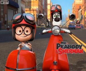 Rompicapo di Mr Peabody e Sherman sulla moto con sidecar