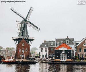 Rompicapo di Mulino Adriaan, Haarlem, Paesi Bassi