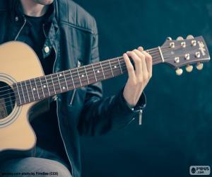 Rompicapo di Musicista di suonare chitarra