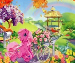 Rompicapo di My Little Pony circondato da fiori