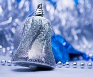 Rompicapo di Natale campana argento