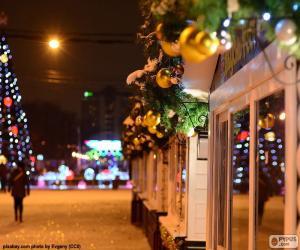 Rompicapo di Natale decorato Street