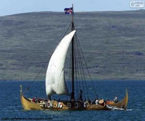 Rompicapo di Nave di navigazione di Viking