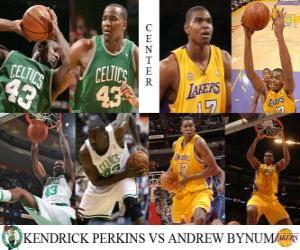 Rompicapo di NBA finale 2009-10, Centro, Kendrick Perkins (Celtics) rispetto a Bynum Andrew (Lakers)