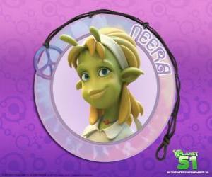 Rompicapo di Neera è la tipica ragazza, intelligente, bella pelle verde con alcune antenne interessanti sulla sua fronte