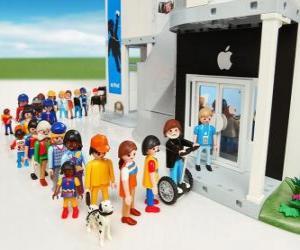 Rompicapo di Negozio Apple Playmobil