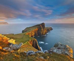 Rompicapo di Neist Point Lighthouse, Isola di Skye, Scozia