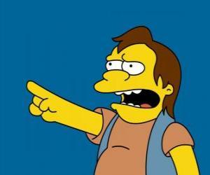 Rompicapo di Nelson Muntz, occasionalmente amico di Bart e Lisa ex-fidanzato.