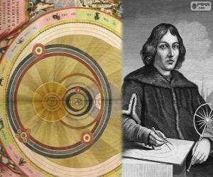 Rompicapo di Niccolò Copernico (1473-1543), astronomo polacco che ha formulato la teoria eliocentrica del sistema solare