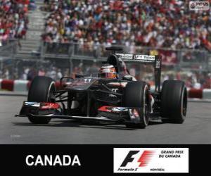 Rompicapo di Nico Hülkenberg - Sauber - circuito Gilles Villeneuve, Montreal, 2013