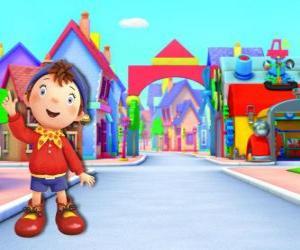 Rompicapo di Noddy è un bambino di legno che vive in una piccola casa nel Paese dei Balocchi, la città di giocattoli