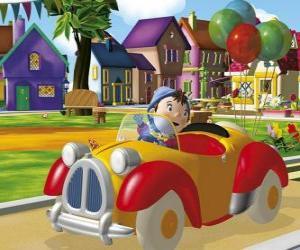 Rompicapo di Noddy guidando l'auto