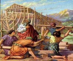 Rompicapo di Noè construito la sua arca per salvare dil diluvio  gil eletti