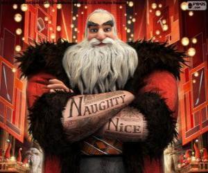 Rompicapo di Nord, meglio conosciuto come Babbo Natale. Carattere da Le 5 leggende