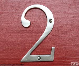 Rompicapo di Numero 2, colore argento