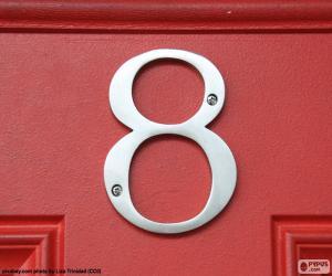 Rompicapo di Numero 8, color argento