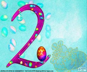Rompicapo di Numero due di Pasqua