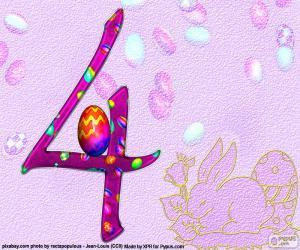 Rompicapo di Numero quattro di Pasqua