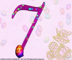 Rompicapo di Numero sette di Pasqua