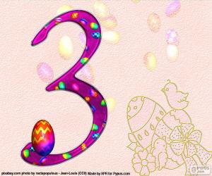Rompicapo di Numero tre di Pasqua